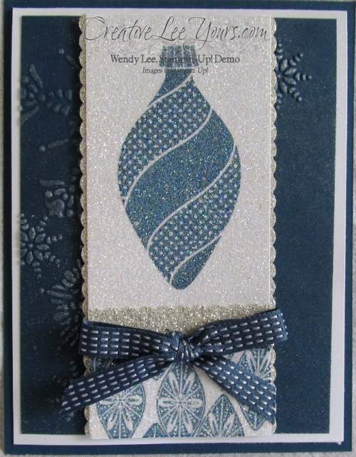 Blue Ornament Card
