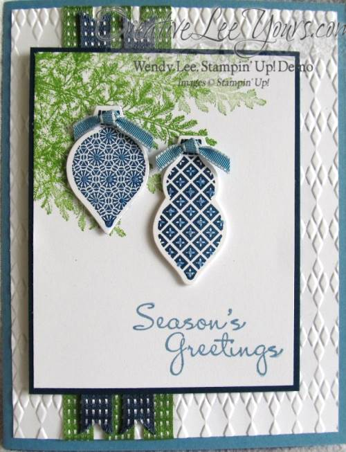 Blue and Green Ornament Card