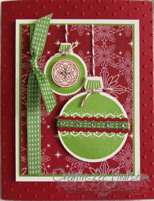 Green Ornament Card