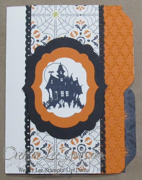 Halloween mini file folder card