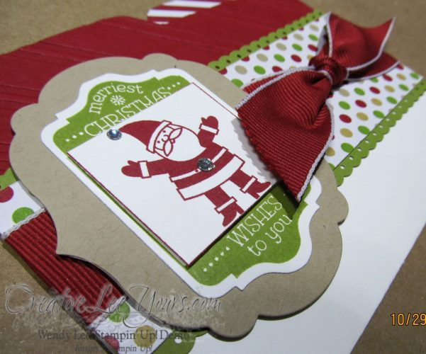 christmas file folder card front