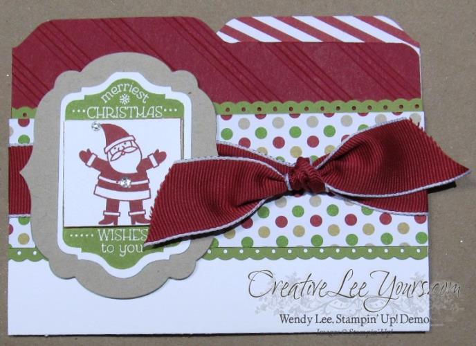 christmas file folder card