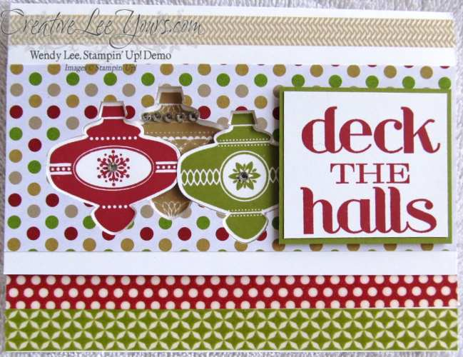 Deck the halls full card