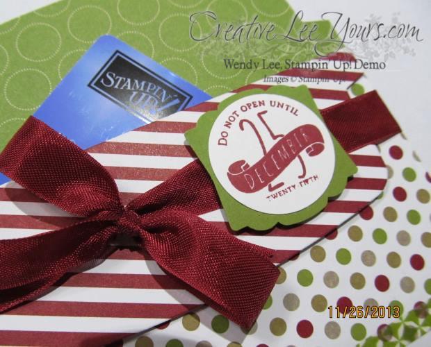 gift card holder close up