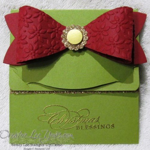 bow gift card holder