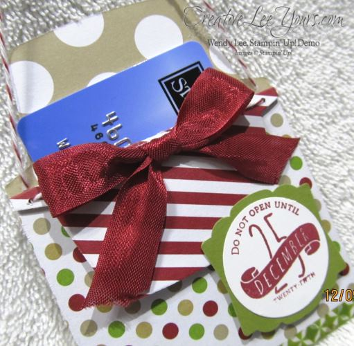 SU Envelope Liner Gift Card Holder