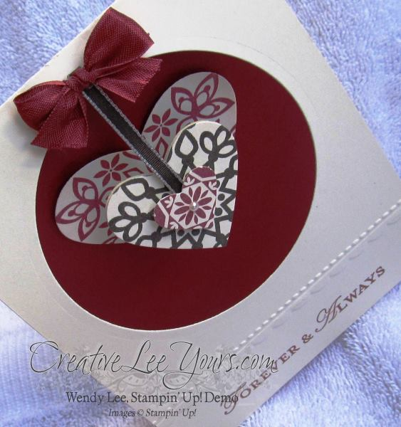 hanging pendant heart card