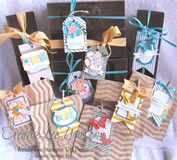 tags, boxes, bags