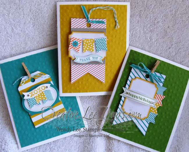 Tag card with banners