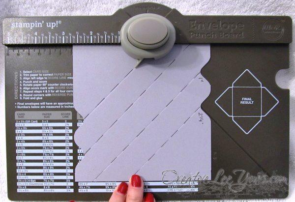 envelope punchboard easter box