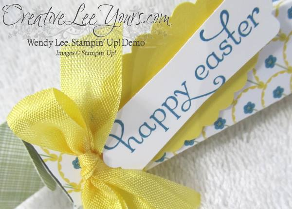 envelope punchboard easter box
