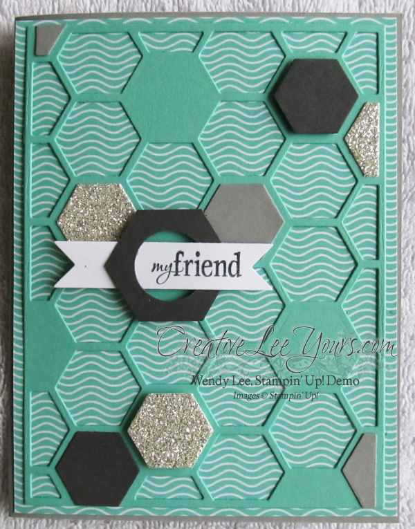 Hexagon Hive My friend card