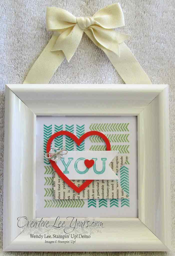 April 2014 paper pumpkin framed love