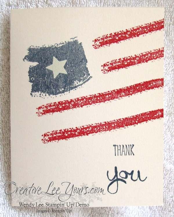 Work of Art Patriotic card