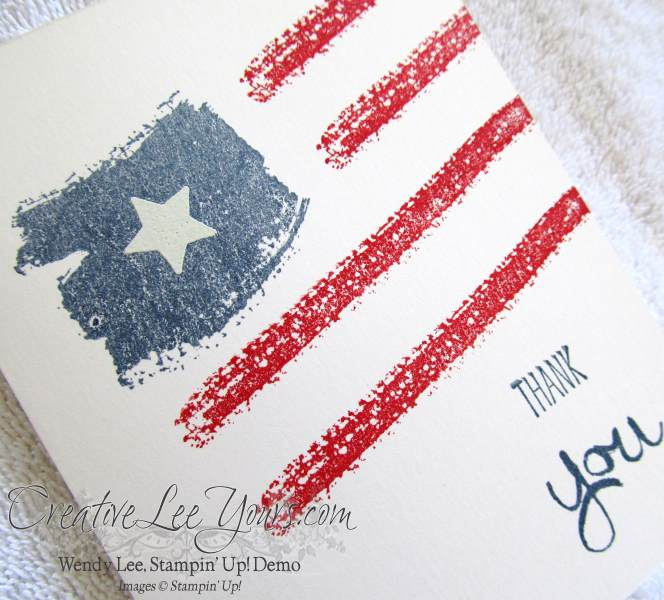 Work of Art Patriotic card