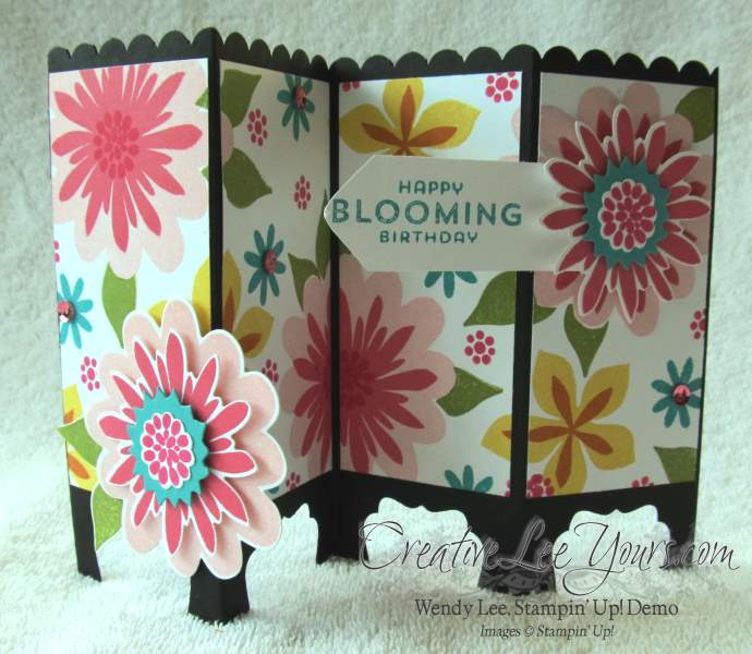 Flower patch screen card