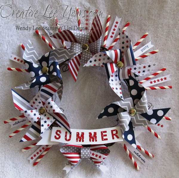 June 2014 Paper Pumpkin Wreath