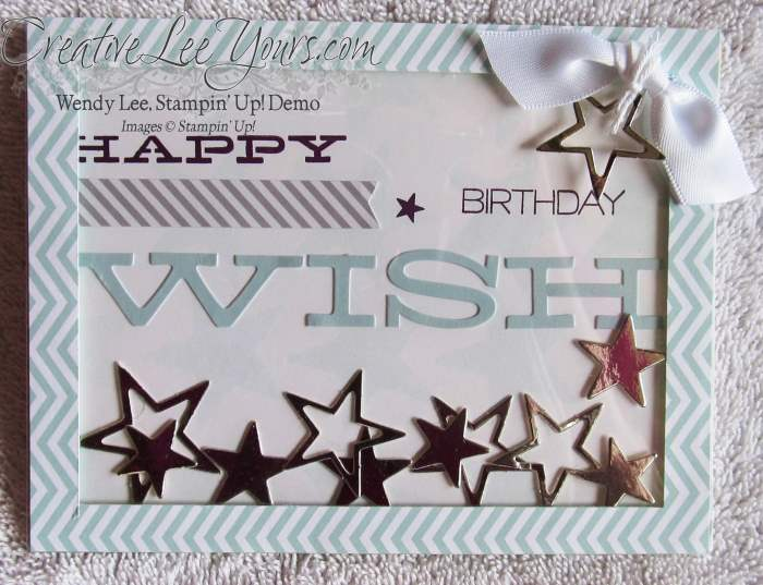 July 2014 Paper Pumpkin Kit-Wish Big shaker card