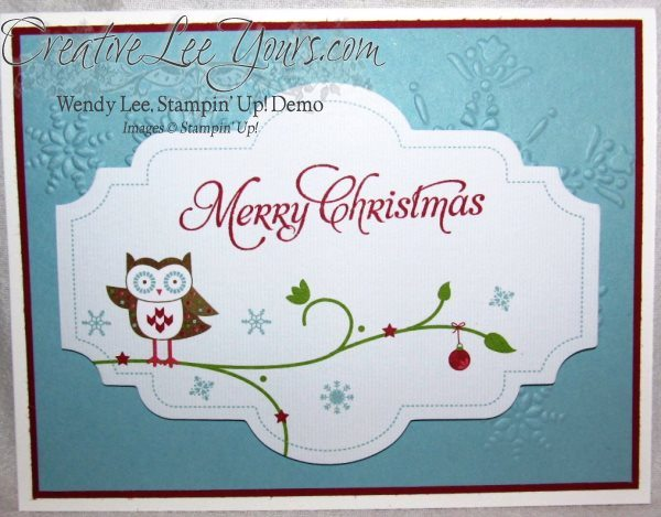 snow festival designer printed tags, SU cards, Christmas