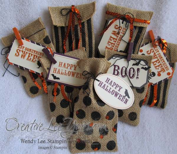 Sept 2014 Paper Pumpkin by Wendy Lee, Halloween treat bag
