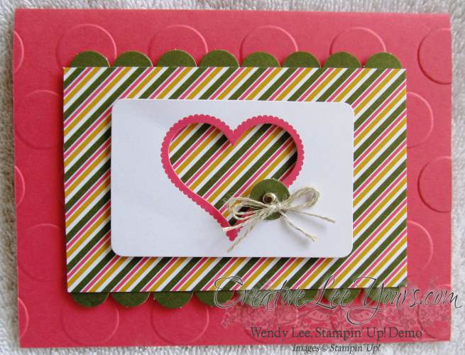 August 2014 Paper Pumpkin Kit - Simply Amazing heart