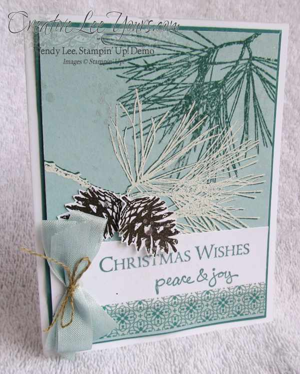 Ornamental Pines Christmas Wishes Peace & Joy By Wendy Lee