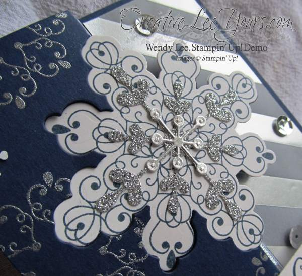 Letterpress Winter Snowflake Flip by Wendy Lee
