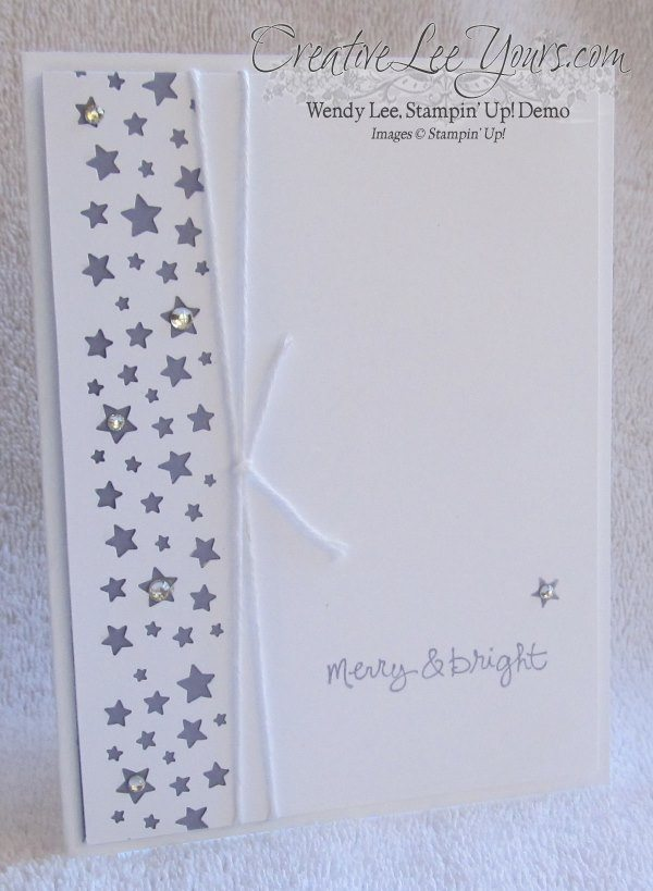 Merry & Bright Stars by Wendy Lee, #creativeleeyours, Stampin Up!, Christmas Card
