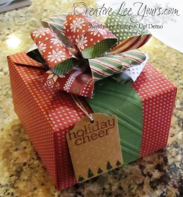 Gift Box Punchboard by Wendy Lee, #creativeleeyours, Stampin Up, Cheerful Tags