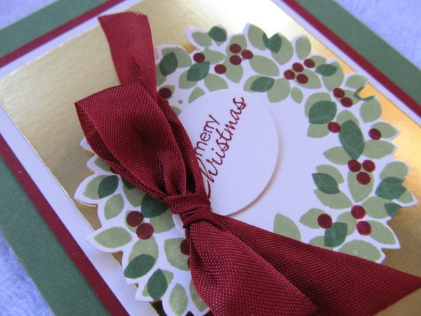 Christmas Wreath, creativeleeyours, Stampin' Up!, Wondrous Wreath