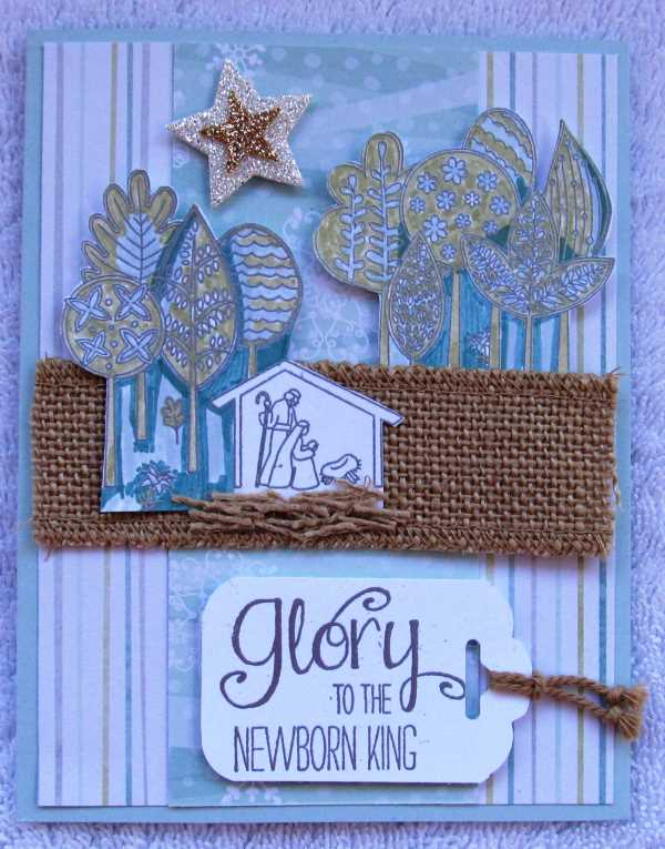 The Newborn King, creativeleeyours, Stampin' Up!, Christmas Card