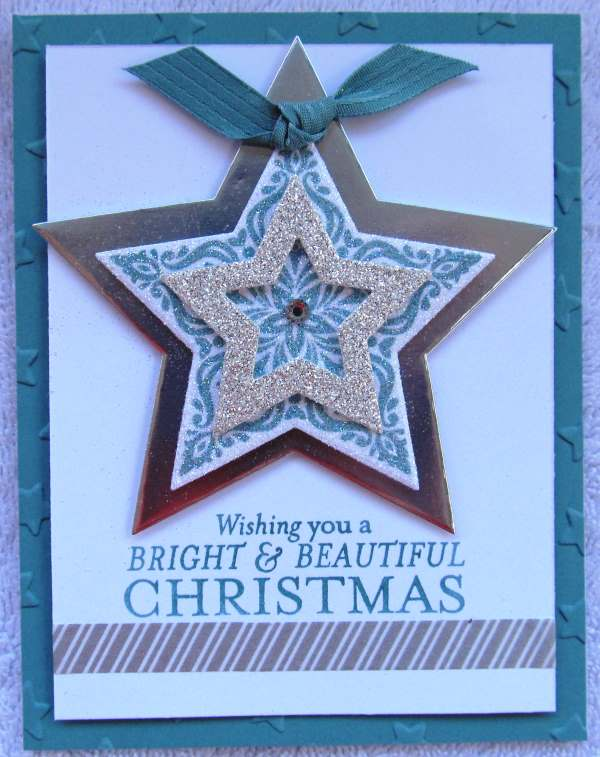 Layered stars, creativeleeyours, Stampin' Up!, Christmas
