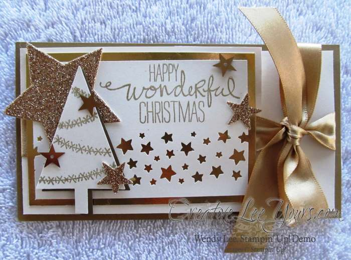 Wonderful Christmas Tree Gift Card Holder by Wendy Lee, #creativeleeyours, stampin' up!, christmas