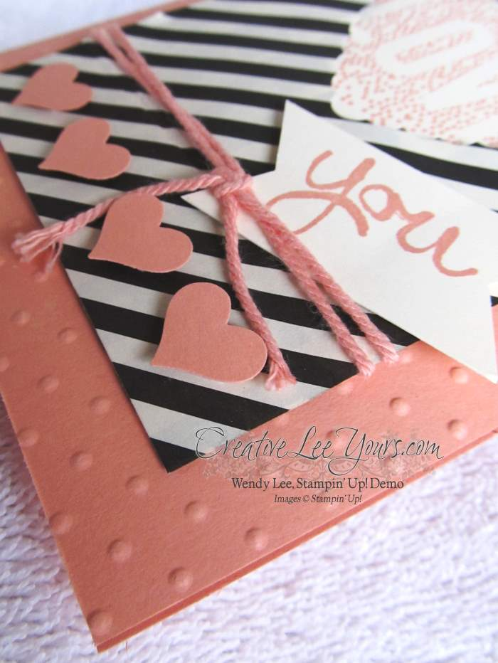 Seasonally Scattered Love You by Wendy Lee, #creativeleeyours, Stampin' Up!, Valentine,cards