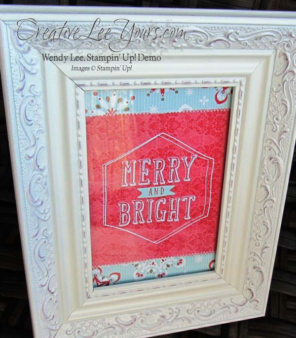 MDS framed art,by Amy Johnson #creativeleeyours, Stampin Up