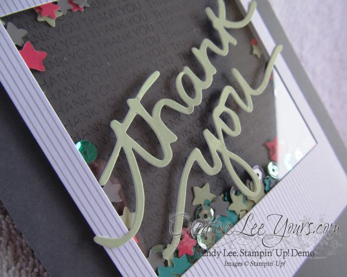 December 2014 All Shook Up Paper Pumpkin by Wendy Lee, #creativeleeyours, Stampin' Up!, thank you card