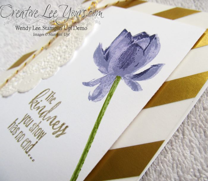 Lotus Blossom Kindness by Wendy Lee, creativeleeyours, Stampin' Up!, #SAB2015