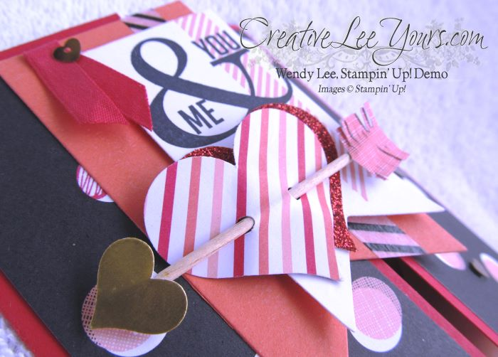 You & Me Peek a Boo Valentine by Wendy Lee, #creativeleeyours, Stampin' Up!, Valentine card