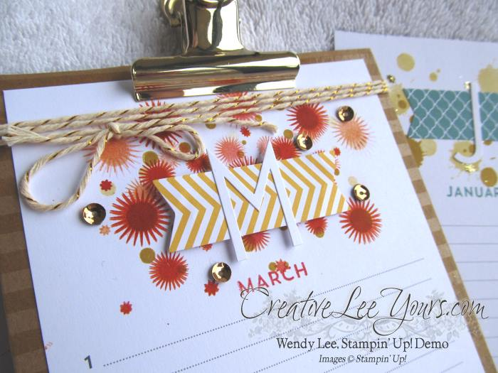 Perpetual Birthday Calendar Class by Wendy Lee, #creativeleeyours, Stampin' Up!