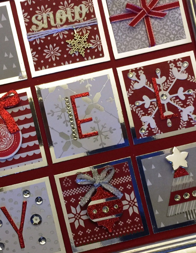 Red & Silver Wall Art by Jennifer Moretz, #creativeleeyours, Stampin Up, Christmas, Home Decor