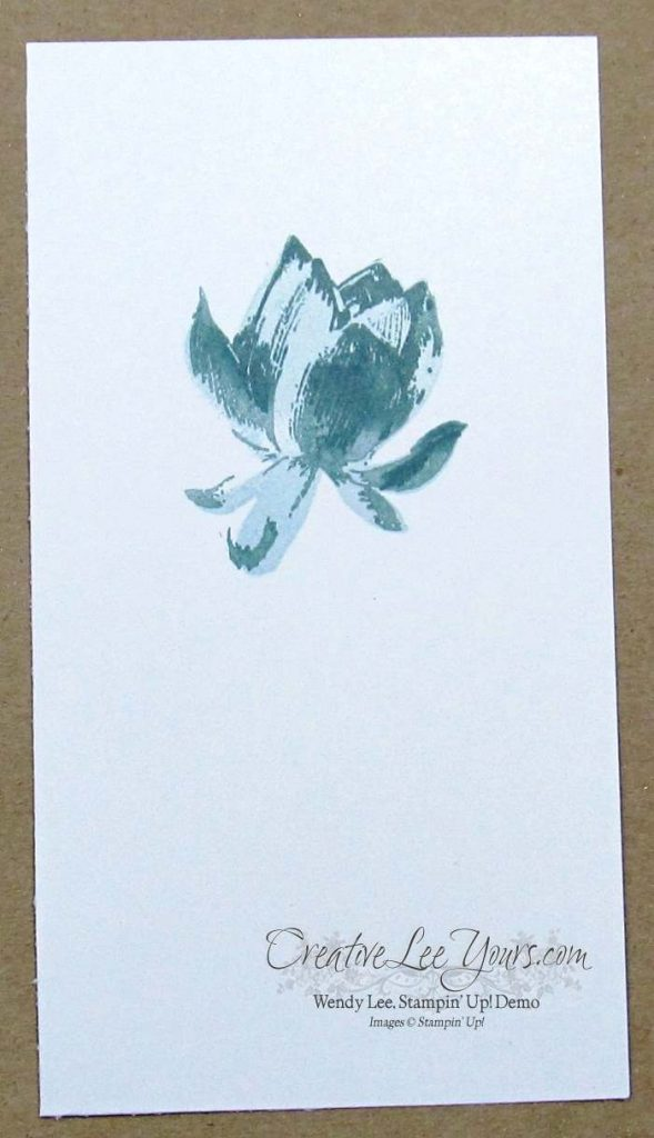 Elegant Lotus Blossom by Wendy Lee, #creativeleeyours, Stampin' Up!, #SAB2015, Kindness card