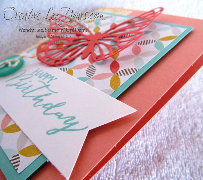 Birthday Butterfly by Wendy Lee, #creativeleeyours, Stampin' Up!, #SAB2015, Butterflies Thinlints, Cards