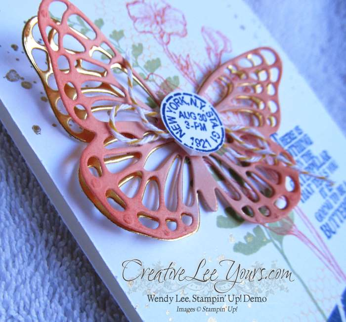 Beautiful Butterfly by Wendy Lee, #creativeleeyours, Stampin' Up!, Butterfly Basics Stamp Set, Butterfly Thinlits, Cards