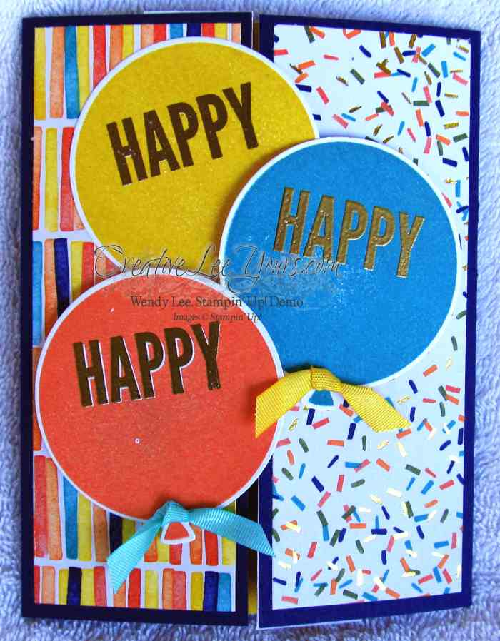 Celebrate Today Birthday by Wendy Lee, #creativeleeyours, Stampin' Up!, Sneak Peak Card