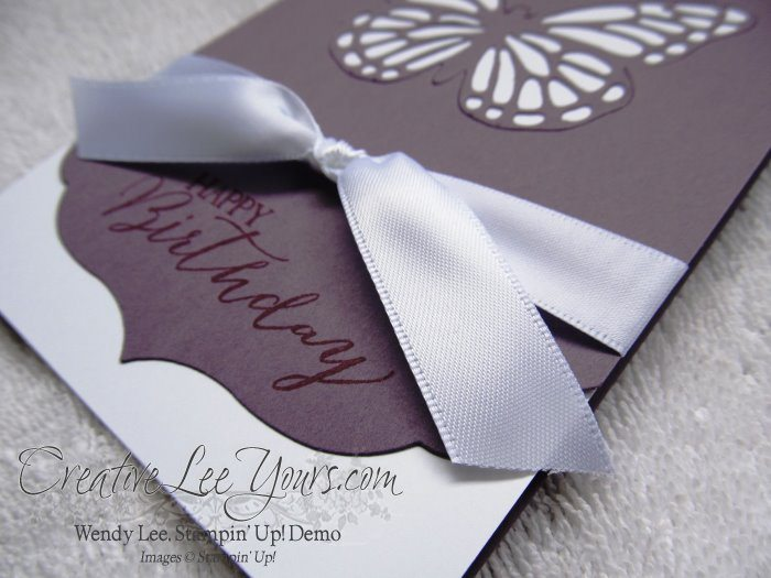 Faux Laser Butterfly by Wendy Lee, #creativeleeyours, #Leadership2015, Birthday Card, Butterfly thinlits die