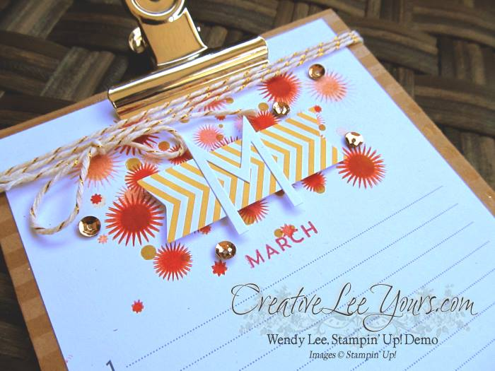 Perpetual Birthday Calendar by Wendy Lee, #creativeleeyours, Stampin' Up!, Classes