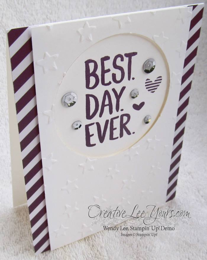 Best Day Ever by Sheila Tatum, #creativeleeyours, Stampin' Up!, #SAB2015