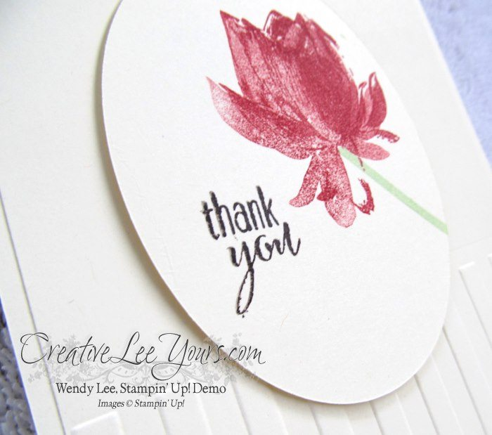 Thank You Lotus Blossom by Maryan Binkley, #creativeleeyours, Stampin' Up!, #SAB2015