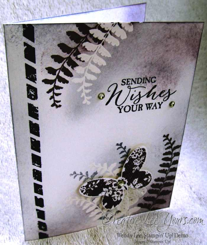 Embossed Butterfly by Belinda Rodgers, #creativeleeyours, Stampin' Up! card, Butterfy Basics Stamp set