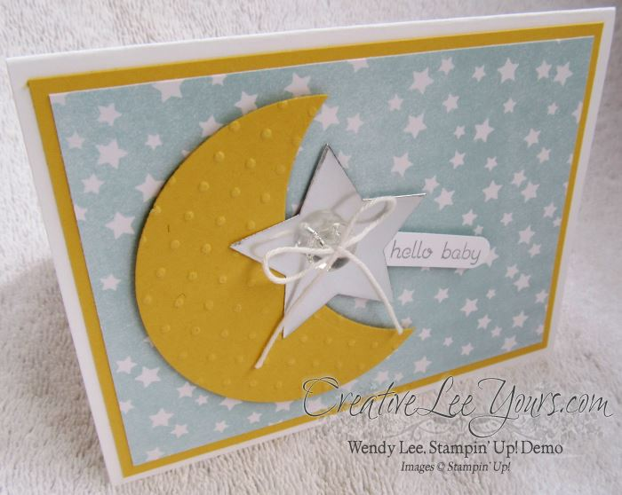 Moon Baby by Stephanie Daniel, #creativeleeyours, Stampin' Up!, card